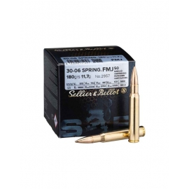 30-06 Spring Sellier & Bellot 180 grs FMJ 50rds
