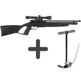 Gamo Coyote Black Whisper 5,5mm PCP airgun met Pomp & Richtkijker