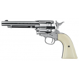 "Umarex Colt SAA .45-5.5"" Nickel Finish 4,5mm CO2 Pellet Airgun"