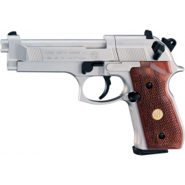 CO2 Airgun BERETTA M 92 FS Nickel/Wood 4,5 mm (.177) BB / Diabolo