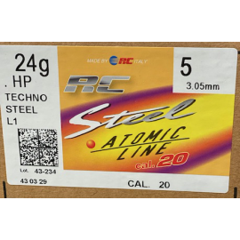RC Cal 20 nr. 5 Staalhagelpatronen 24gr T3 -16 mm (250st)