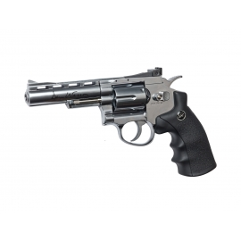 "CO2 6mm Airsoft Revolver DAN WESSON 4"" SILVER"