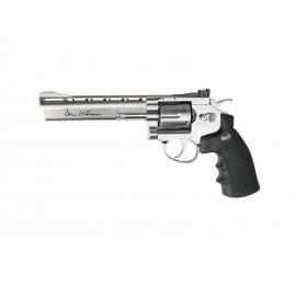 "CO2 Airsoft Revolver DAN WESSON 6"" SILVER"