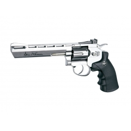"CO2 Airgun Revolver DAN WESSON 6"" SILVER 4,5 BBS"