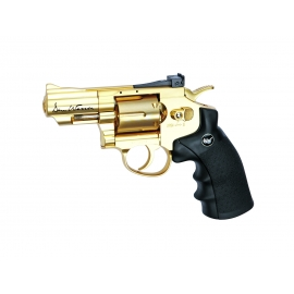 "CO2 Airgun Revolver DAN WESSON 2,5"" GOLD 4,5 BBS"