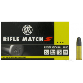 .22LR RWS Rifle Match S .22 LR RN 40 Grain