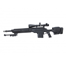 6 mm Airsoftrifle, Ashbury ASW338LM Sniper, Black edition