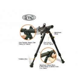 UTG Deluxe Foldable Clamp-On Bipod Airsoft Gun Accessory SKU: LP-TL-BP08S