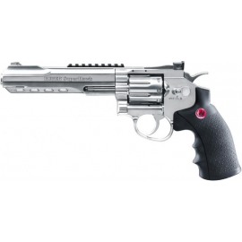 "6mm Co2 Airsoft Revolver Ruger SuperHawk 6"" Silver"