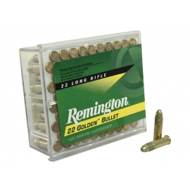 Remington Golden Bullet Ammunition 22 Long Rifle 40 Grain High Velocity Round Nose
