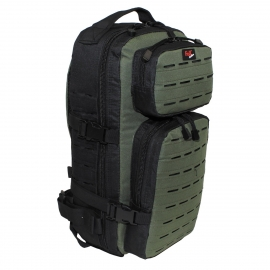 "Backpack ""Assault-Travel"", Laser, black/OD green"