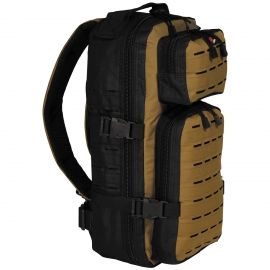 Rugtas Backpack Assault-Travel, Laser, black/coyote