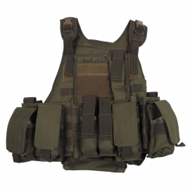 Vest Ranger Modu., OD green, 5 bags and pouches