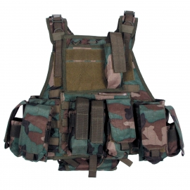 Vest Ranger Modu., woodland, 5 bags and pouches