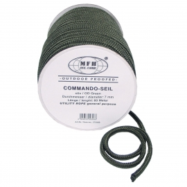 Rope, OD green, 7mm, 60 m