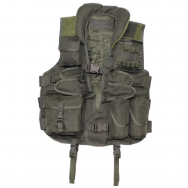 Tactical Vest, with leather, OD green