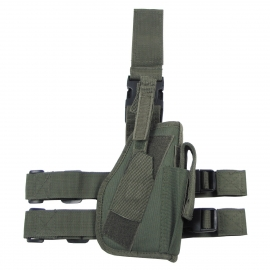 Tactical Holster, OD green, leg- and belt fixing, right