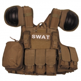 Vest Combat Modular, coyote, bags and pouches, quick remove