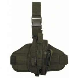 "Tactical Holster, ""Molle"", leg- and belt fixing, OD green"