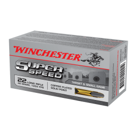 500 st 22LR Winchester Super Speed 22LR 40gr solid copper plated