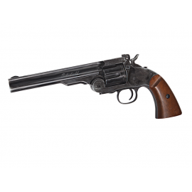 "CO2 airgun Schofield 6""Airgun - Aging BK & Wooden Grip 4,5mm pellet"