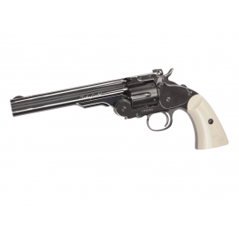 "CO2 airgun Schofield 6"" Airgun - Plated Steel GY & Ivory Grip"