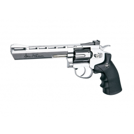 "CO2 Airgun Dan Wesson, 6""Silver Pellet Airgun"