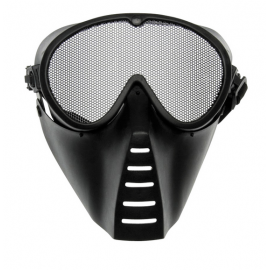Grid mask, full-face, black