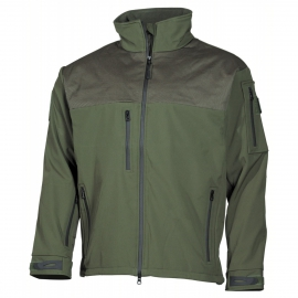 Soft shell jas groen