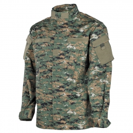 US field jacket digital woodland