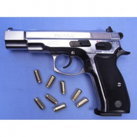 8mm Alarm CZ 75 Bankpistool nickel