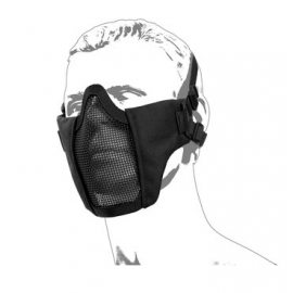 Protective Metal mesh mask with cheek pad, Black