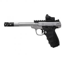 SMITH & WESSON 22 VICTORY TREADED BARREL + RED DOT