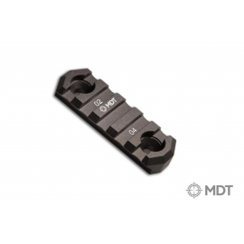 MDT Aluminium Picatinny M-LOK rail 2,5 inch M-Lok Rail Section 5 slots Black