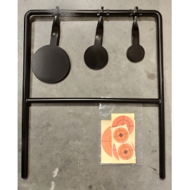 Airgun swing target heavy duty steel construction voor .22
