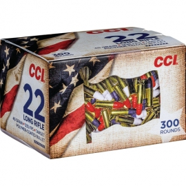 Kogelpatronen .22 LR CCI Patriot Pack Ammo 40 Grain Red White Blue Coated Box of 300