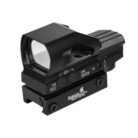 Lancer Tactical Red & Green Dot sight met 4 dradenkruizen