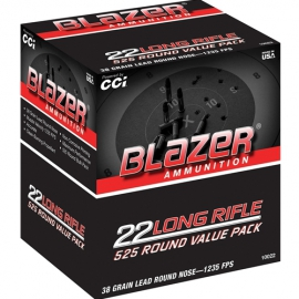.22 LR CCI Blazer 38 Grain LRN Value Pack ( 525 stuks)