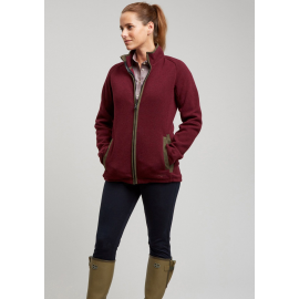 Le Chameau Blockley fleece burgondy dames